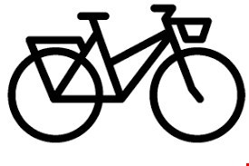 Ingen cykler i gården eller bådhallen!