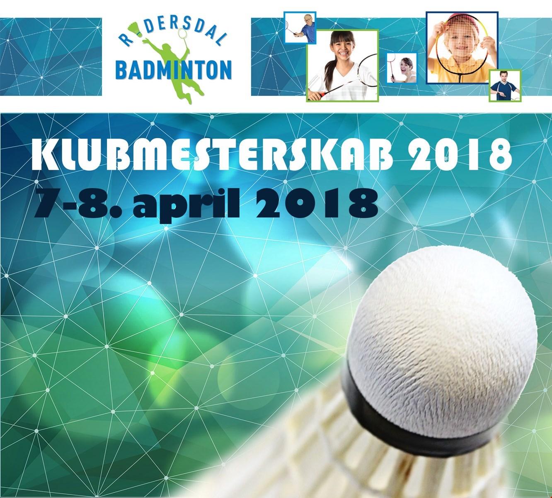 Programmet til klubmesterskaberne 2018