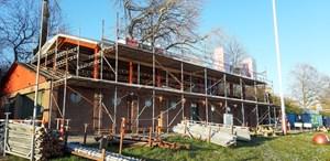 Det går fremad med ombygningen af klubhuset